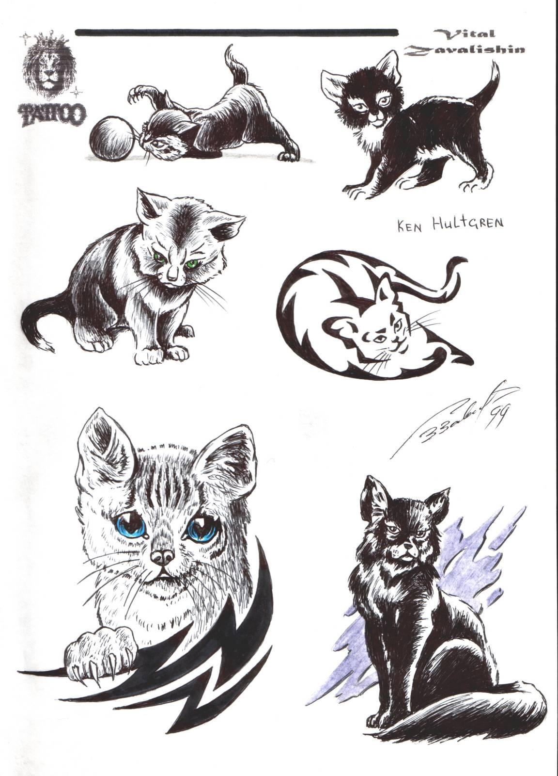 Тату кошка для девушек: 100 самых красивых вариантов на фото 32